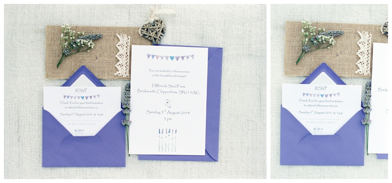 lavender wedding stationary