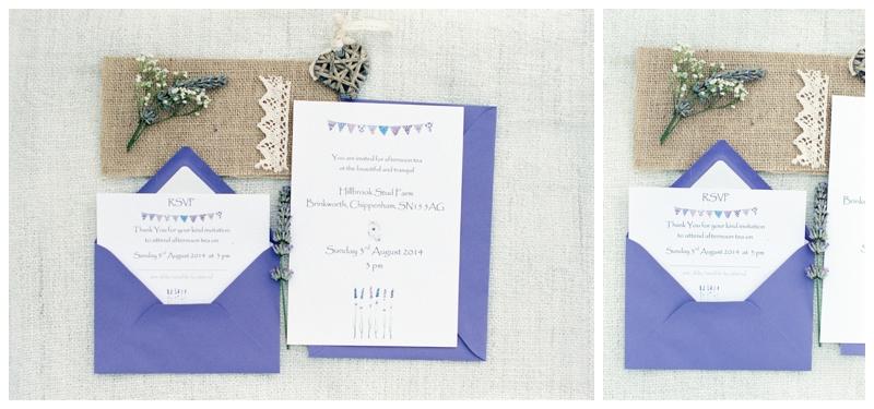 lavender wedding stationary