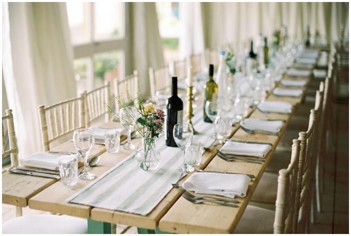 wedding breakfast tables at the moonraker hotel