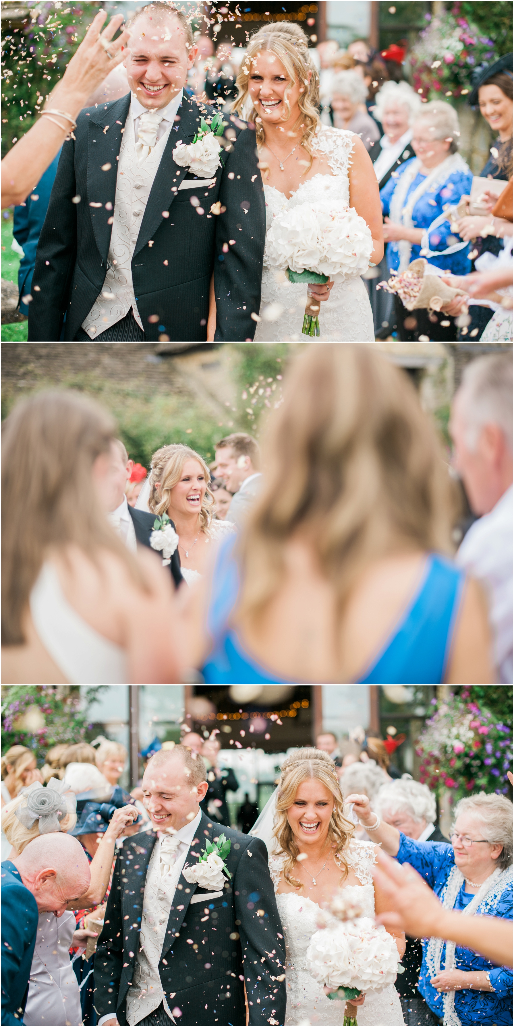 confetti shots at the great tythe barn
