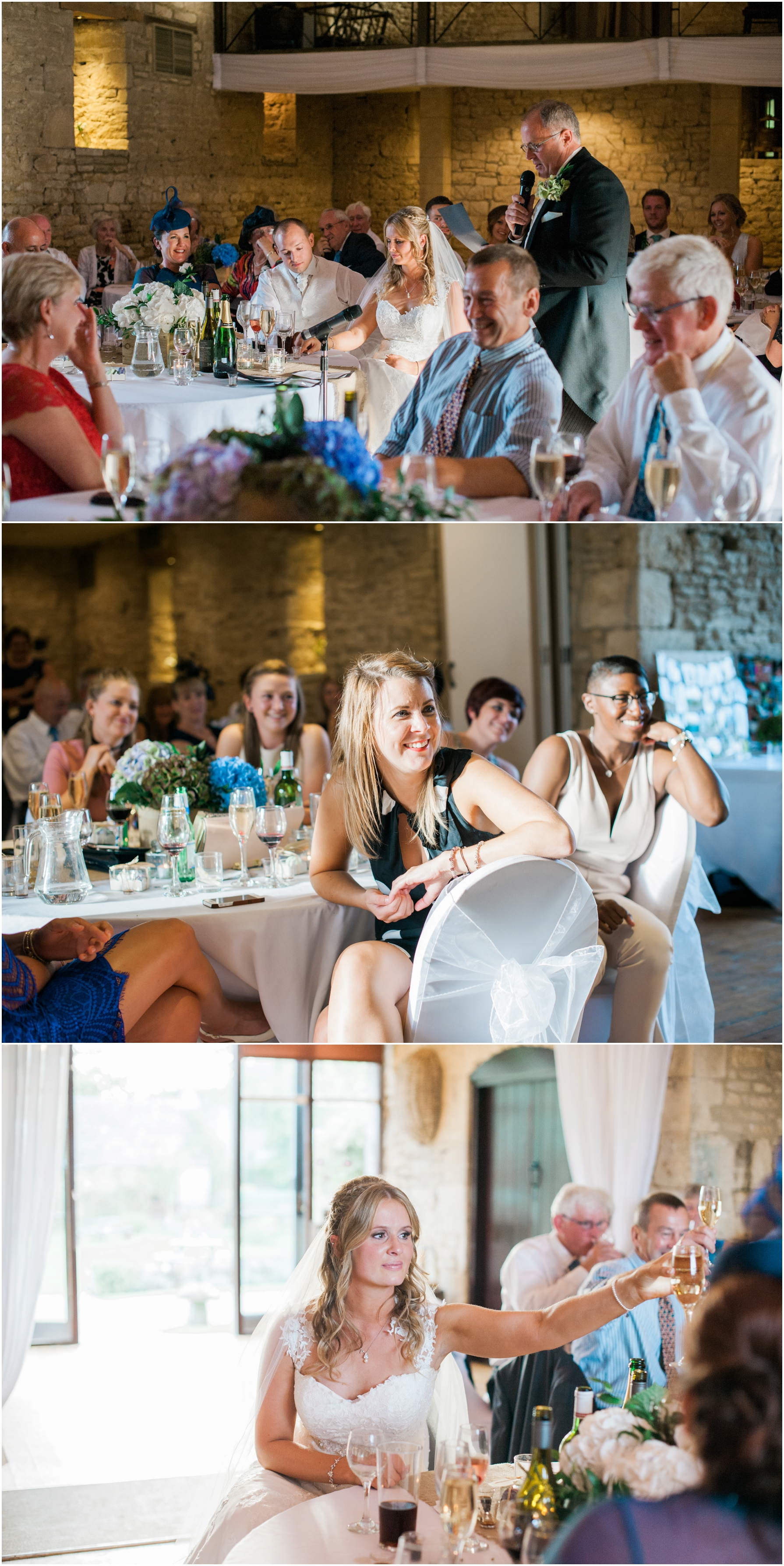 natural photography of wedding guests during the speeches
