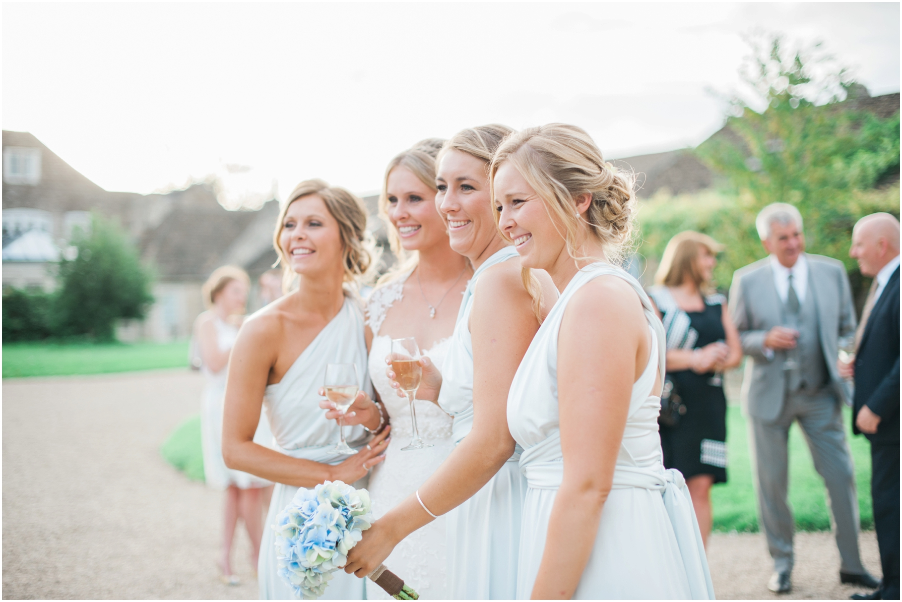 natural photography of bride and bridesmaids