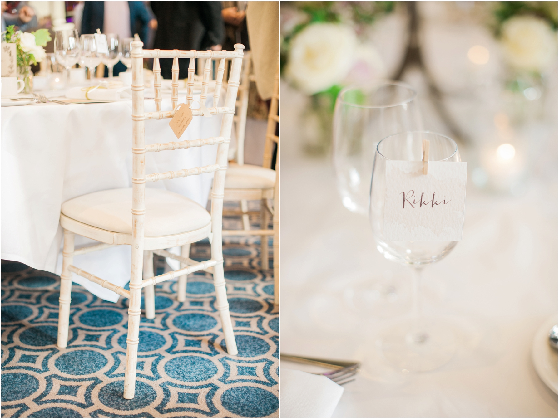 white rustic wedding chairs at bowood house hotel and spa