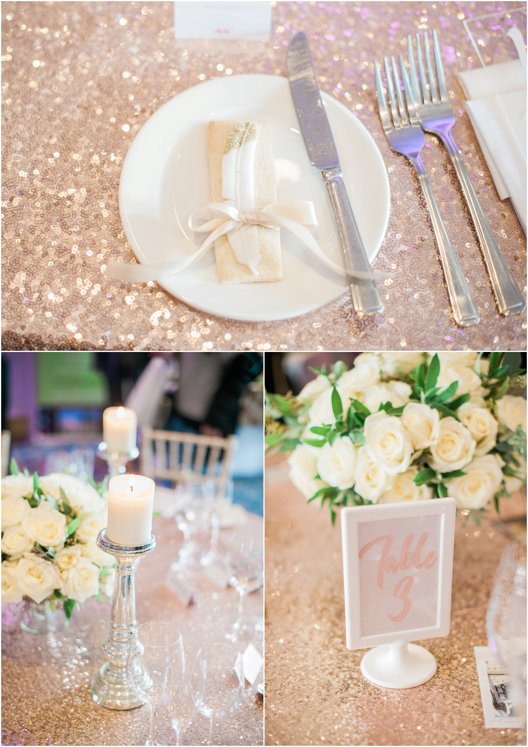 wedding breakfast tables at bowed house