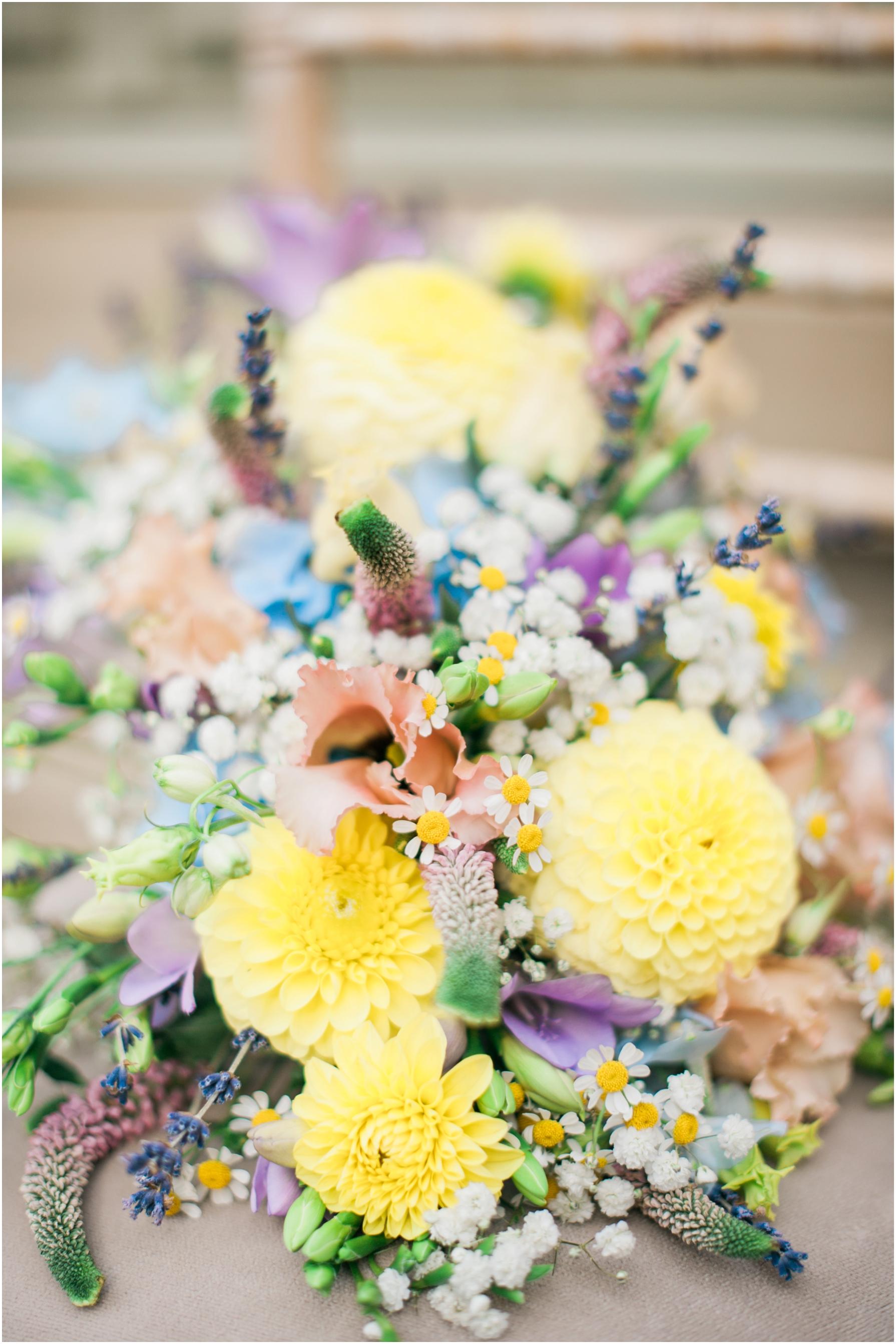bright coloured wedding bouquet
