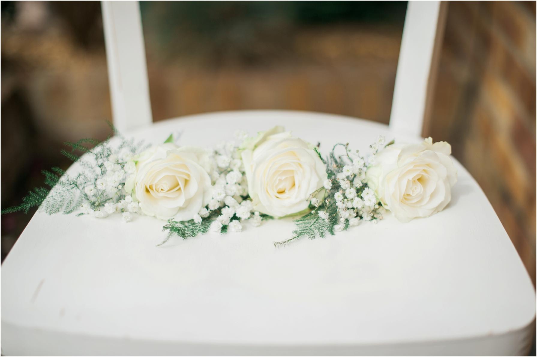 white flower button holes