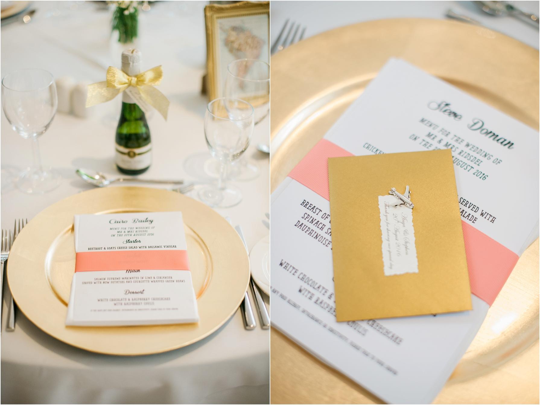 travel themed wedding menus