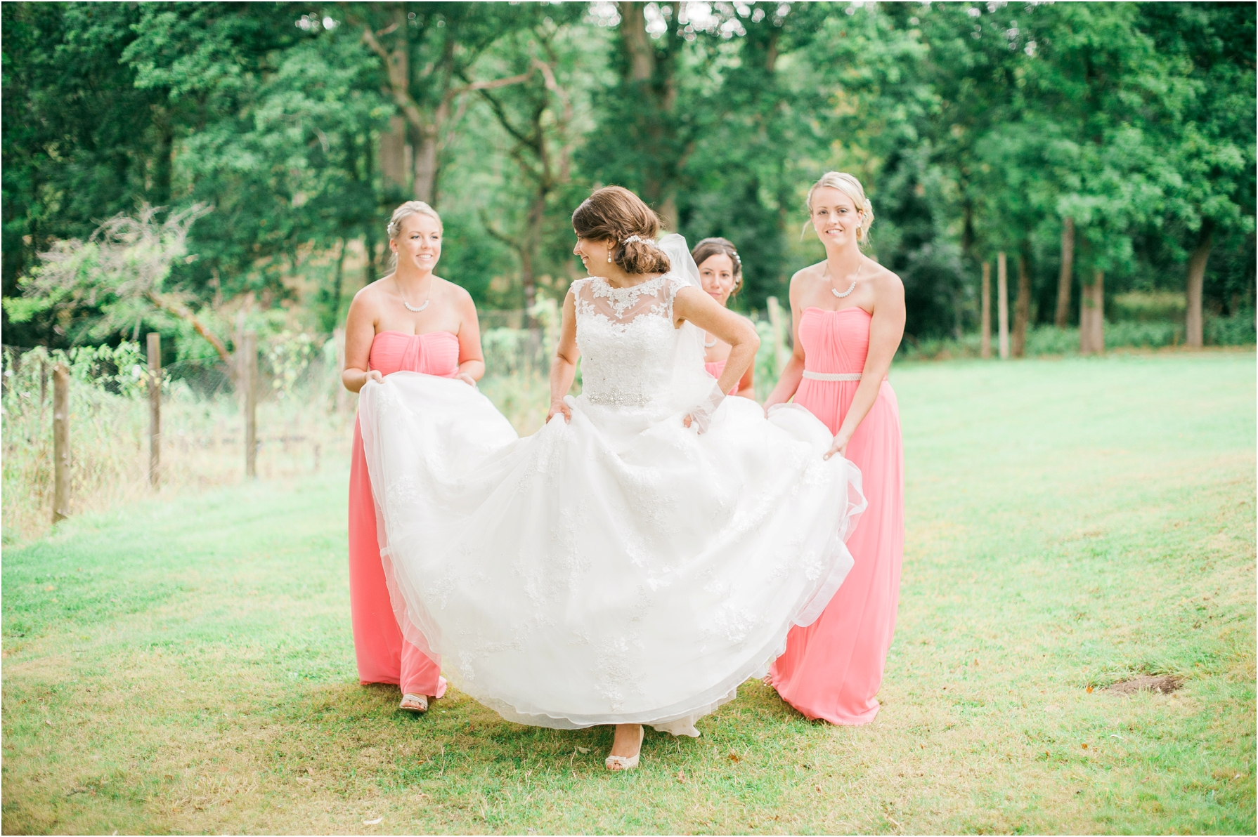 bride and her bridesmaids at the westwood hotel