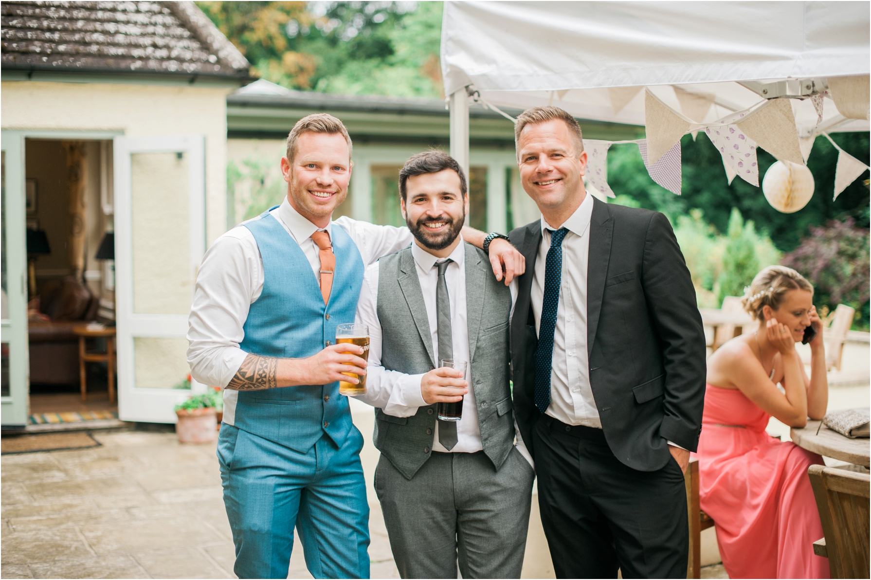 wedding guests having drinks at the westwood hotel