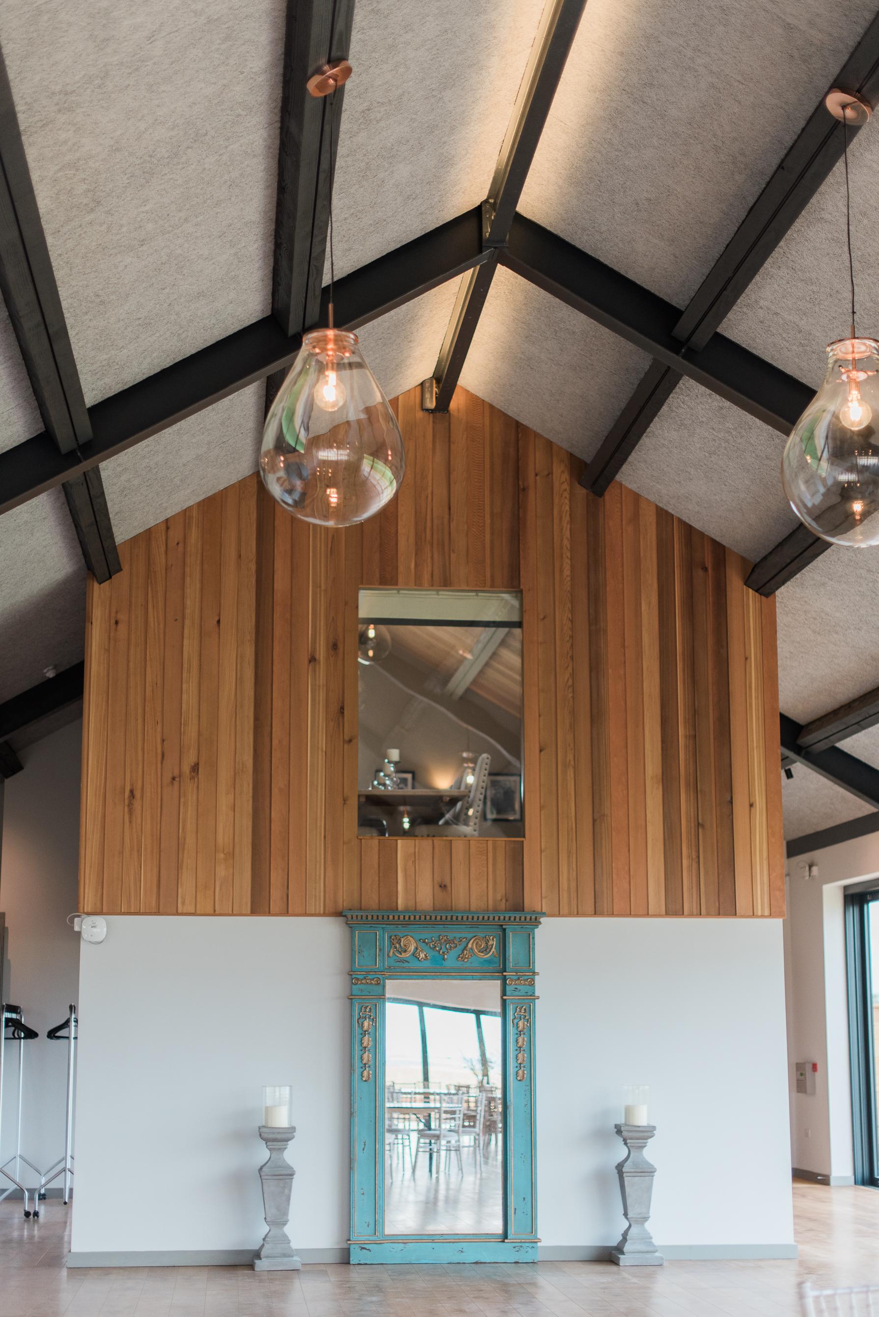 interior decor at casterley barn wedding venue