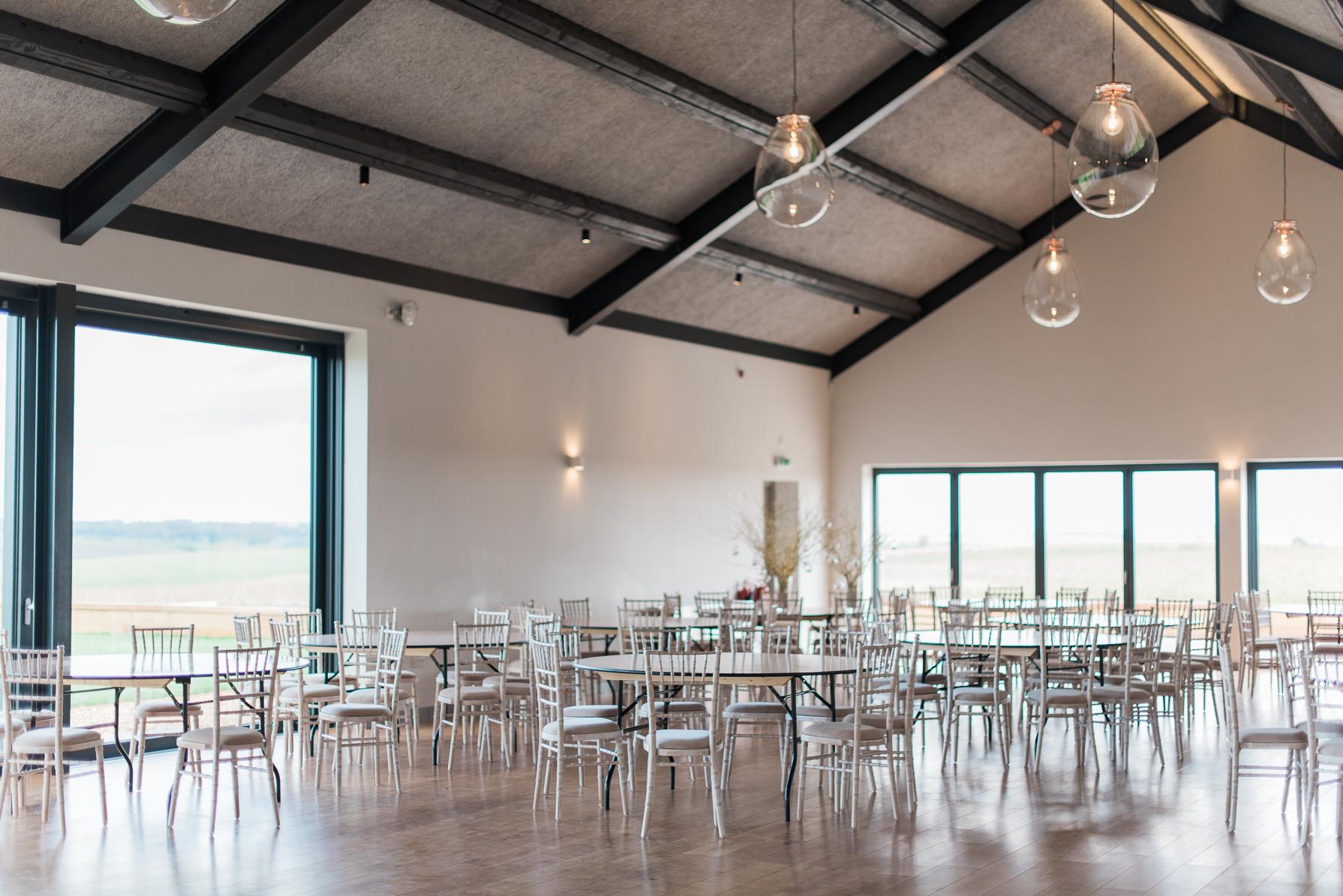 wedding tables at casterley barn