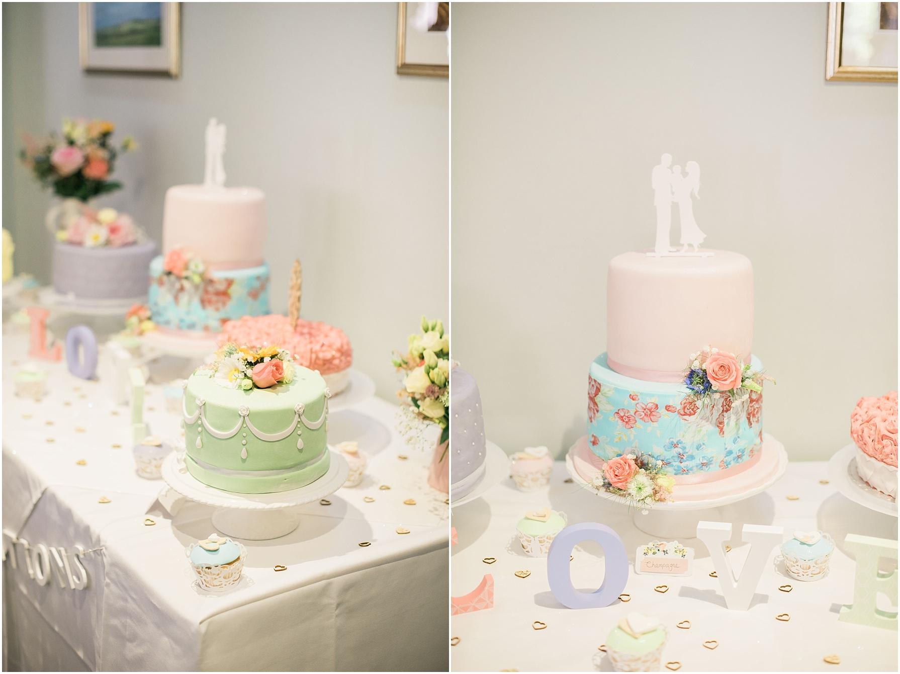 pastel wedding cakes