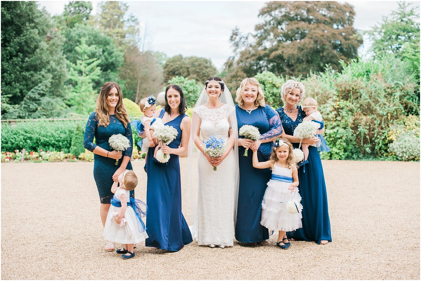 bridal party formal shots