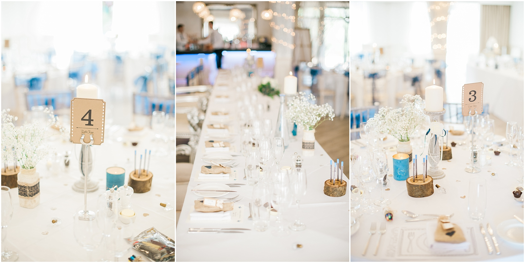 wedding breakfast tables at manor by the lake