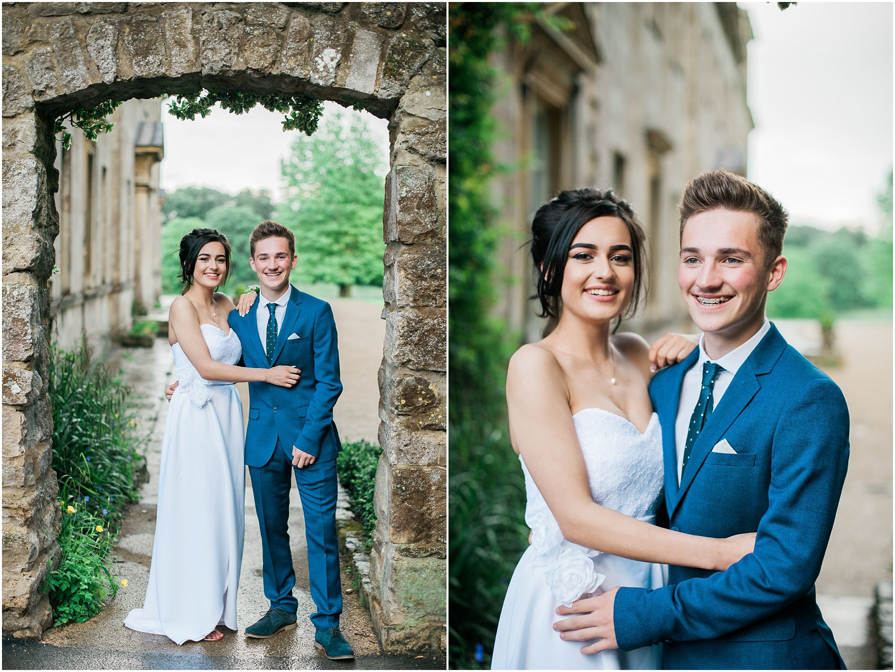 prom photography at Lydiard park in swindon