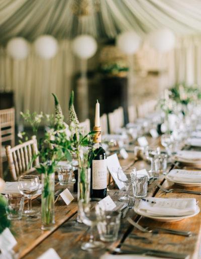 wedding tables at the moonraker hotel