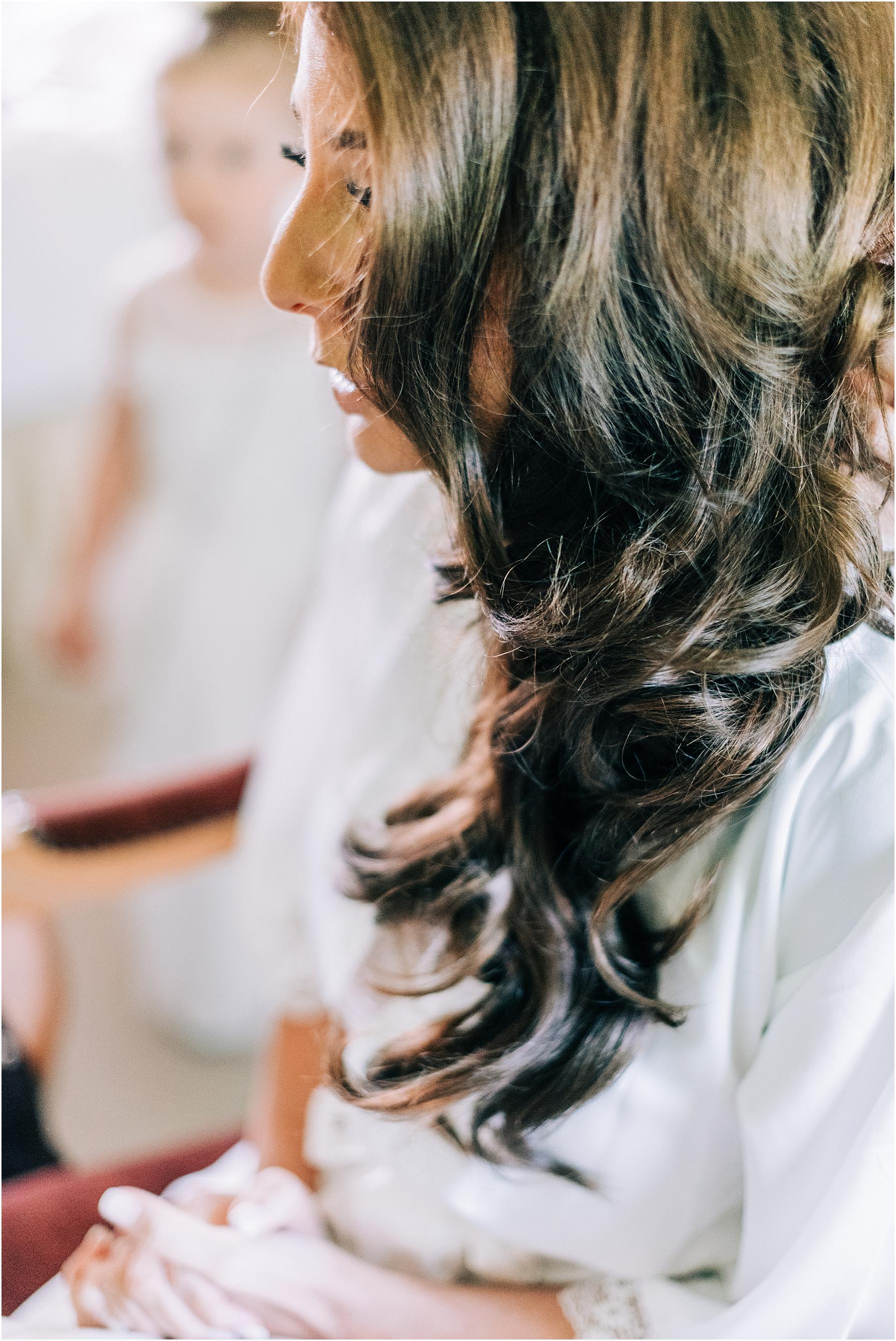 wavy bridal hairstyle