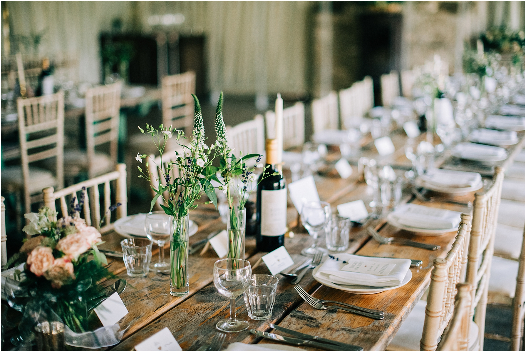 rustic wedding breakfast tables