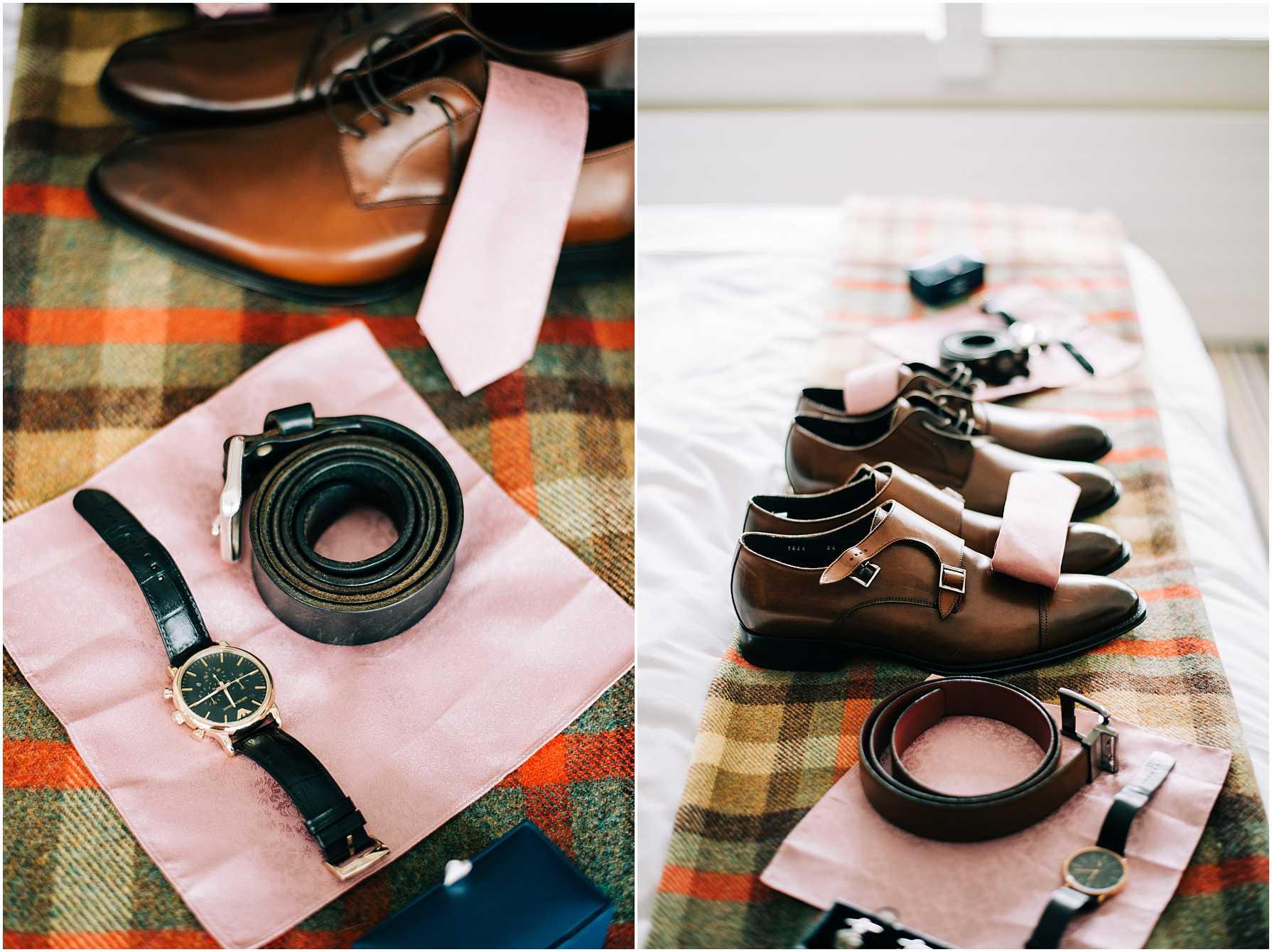 groom preparation photography