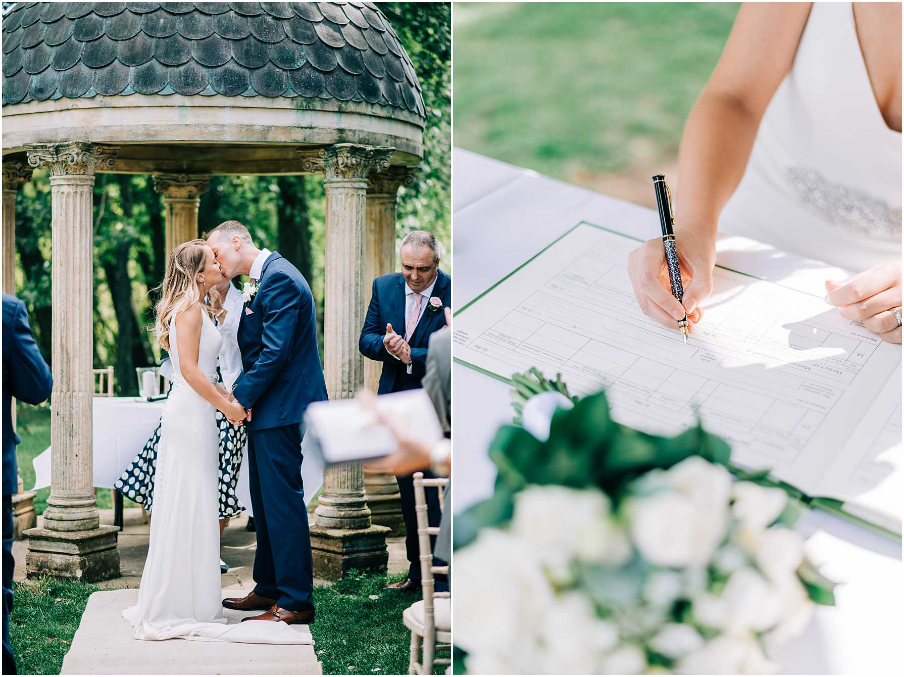 an outdoor ceremony at the old swan and minster mill