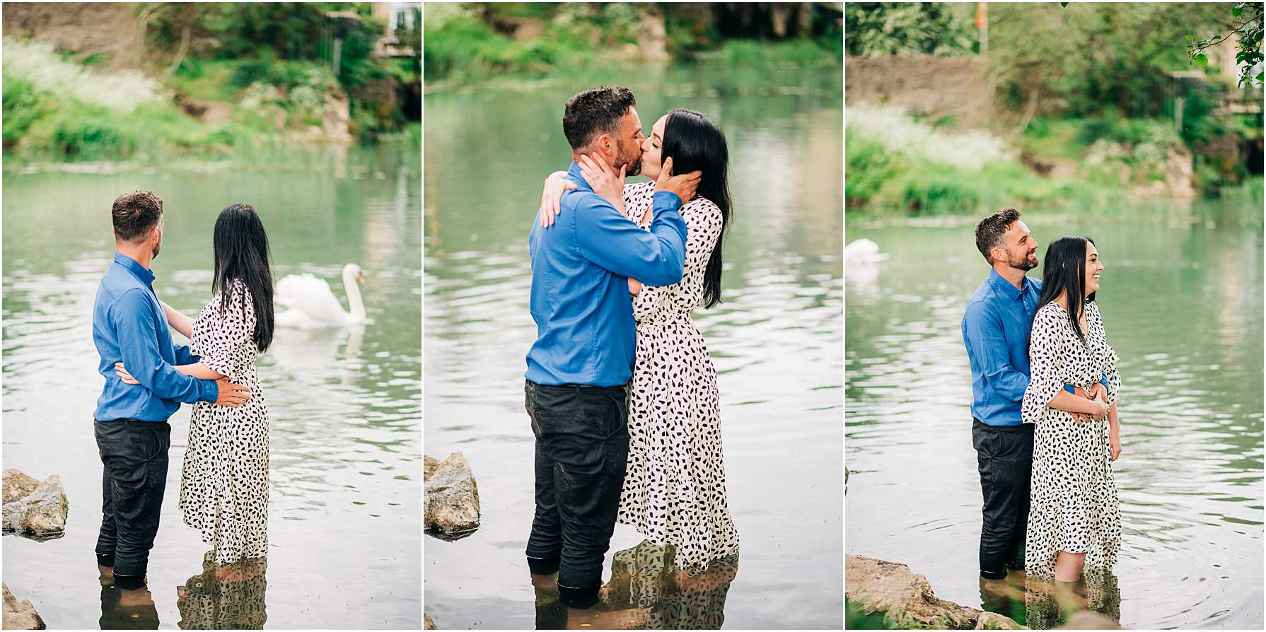 natural engagement session in wiltshire