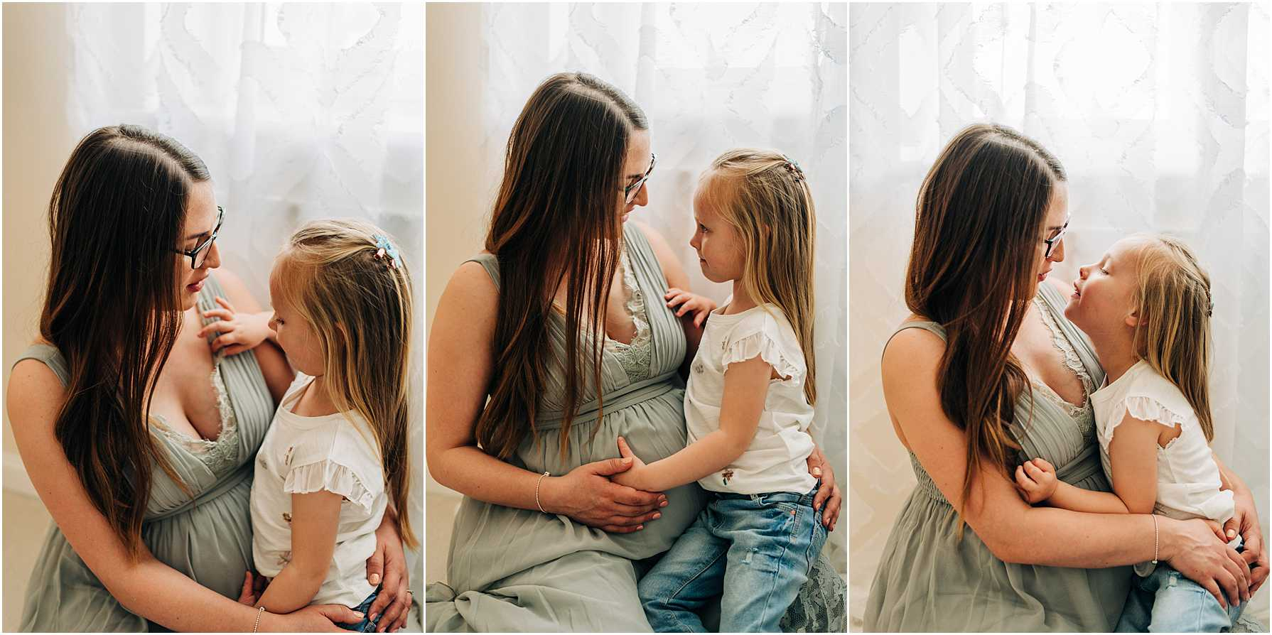 indoor maternity photography