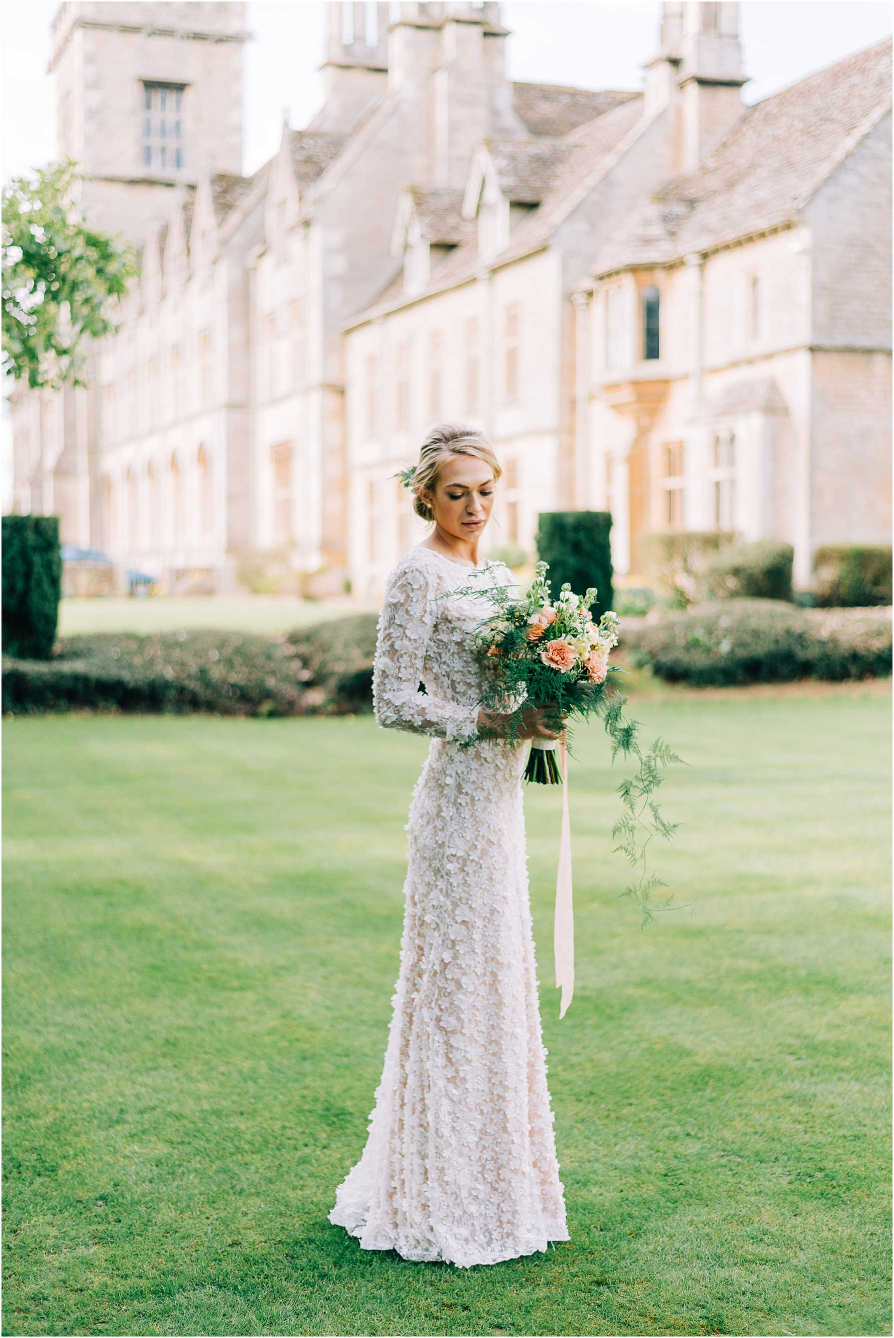 bridal portraits at royal agricultural university in cirencester
