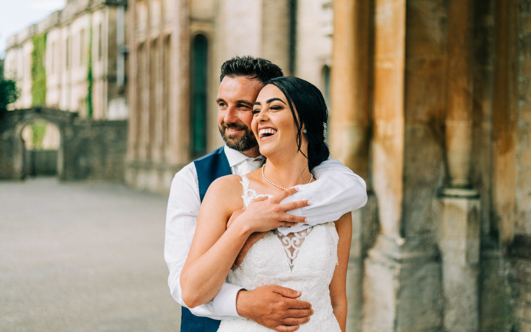 bride and groom portraits at grittleton house