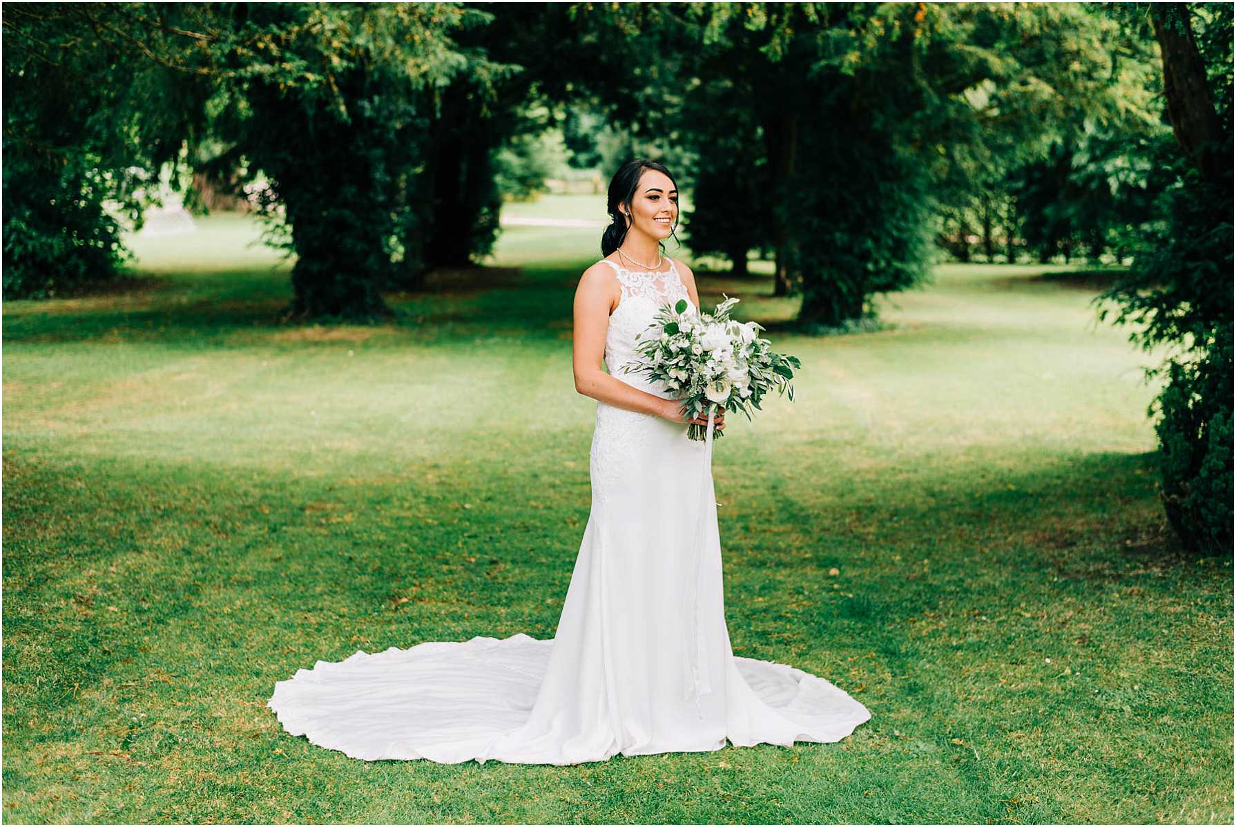 bridal portraits at grittleton house