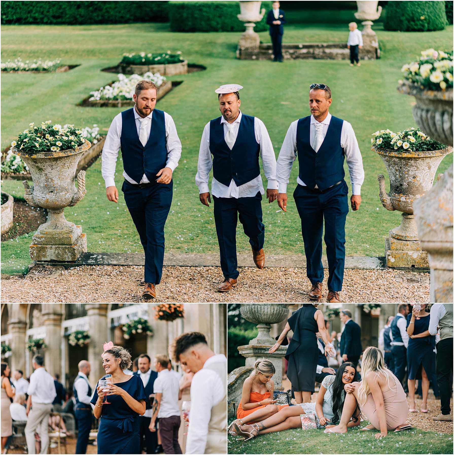 guests having fun at a wedding