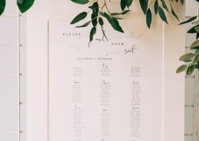 minimal wedding guest seating plan